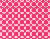 Custom Listing for Kari- Two 1-Yard pieces- Metro Living Circle Print in Pink by Robert Kaufman Fabrics EIP-11016-108 Fuchsia
