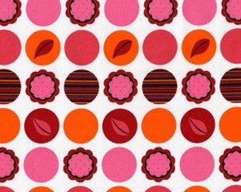 Fat Quarter - SALE- Mod Dots Paprika AndaLucia Fabric By Michael Miller