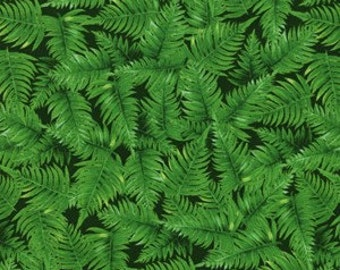 Fat Quarter - Green Fern Print By Michael Miller