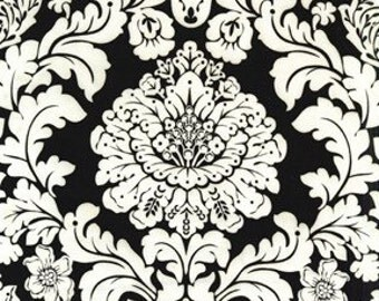Fat Quarter - Delovely Damask Black Fabric By Michael Miller CX4403-Black