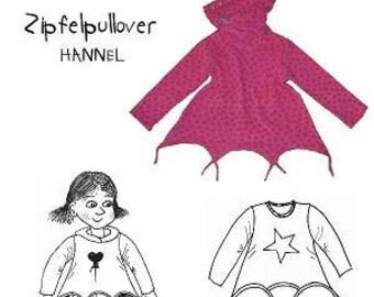 Farbenmix Pattern HANNEL childrens Sweatshirt and Hoodie sewing pattern
