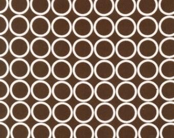 Fat Quarter - Metro Living Circle Print in Brown by Robert Kaufman Fabrics EIP-11016-167 Chocolate