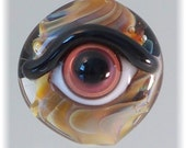 Evil Eye Bead - Lampwork Glass Amulet by Jill