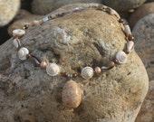 Block Island shell and pearl choker