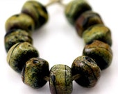 Glass lampwork beads Hearthstone Organic Seeds handmade for artisan jewelry designs (30)