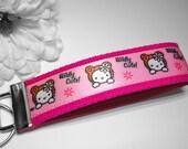 Hello Kitty Wildly Cute Fuchsia Wristlet Key Fob
