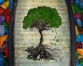 Cathedral Tree- Mixed Media Print