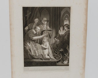 Antique Engraving The Coronation of Henry VI