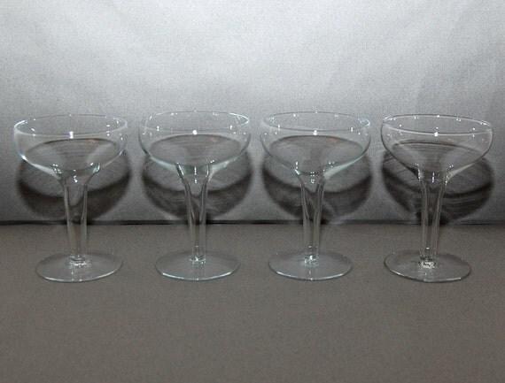 Vintage hollow stem champagne glasses set of 4 - Champagne flutes hollow stem ...