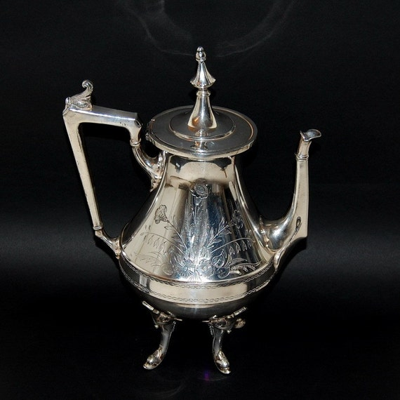 Antique R. Strickland Silver Plated Coffee or Tea Pot