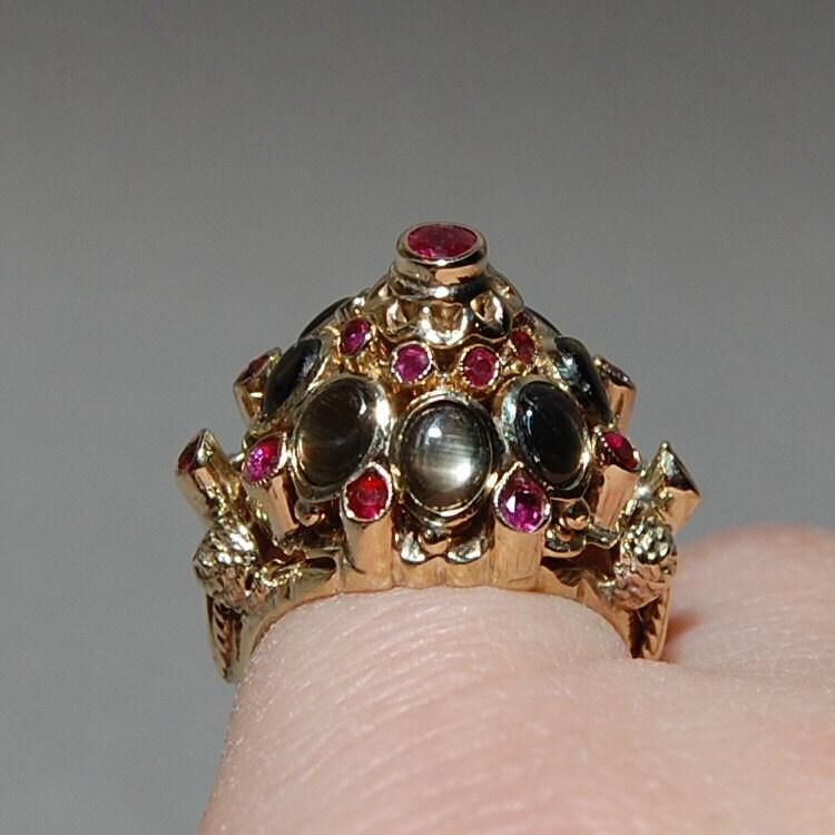 antique estate princess harem ring