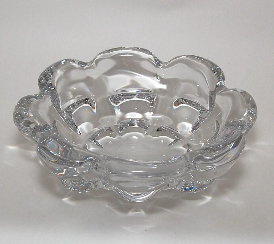 Vintage Orrefors Sweden Crystal Bowl