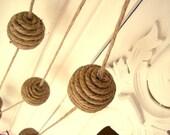 Linen Ball Garland Natural Home Decoration - Alternative Bunting