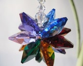 Swarovski Crystal Suncatcher, Rainbow Fireball