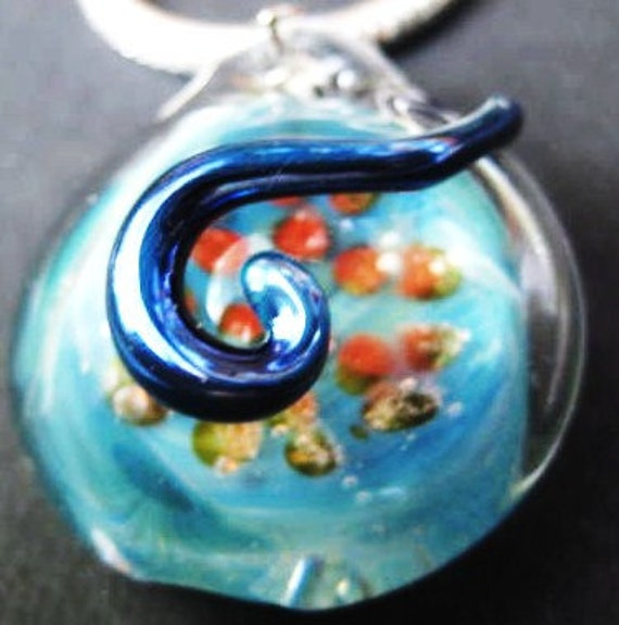 Deep Blue Sea, Boro Glass Pendant SRA