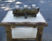 Rustic Birch Log Centerpiece