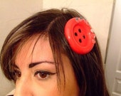 Big Red Button hairclip - Listing for tjavs1234