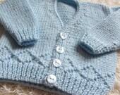 Hand Knit Bamboo Baby Cardigan