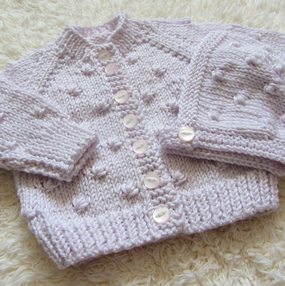 Hand Knitted Bamboo Baby Set