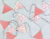 RESERVED - tiny pink flag bunting, qty - 2