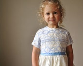 1950s Crocheted Party dress, size 2t