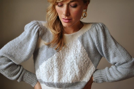 ON RESERVE.....1980s Puff shoulder sweater