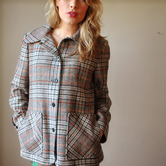 1970s Houndstooth wool jacket