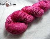 Handdyed Silk-Wool Laceweight - Crimson