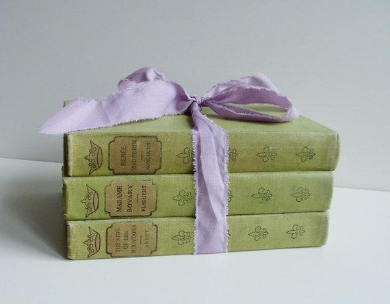 Vintage Books French Classics Trio Green
