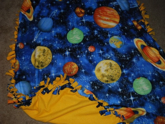 etsy your place to buy and sell all things handmade ForSolar System Fleece Fabric