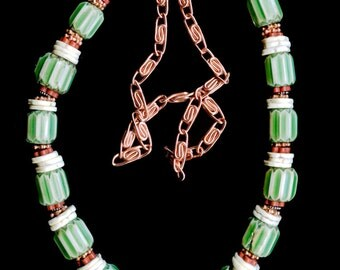 Trade Beads Chevrons with Copper