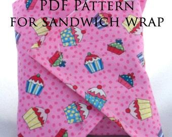 Reusable Sandwich Wrap PDF Pattern