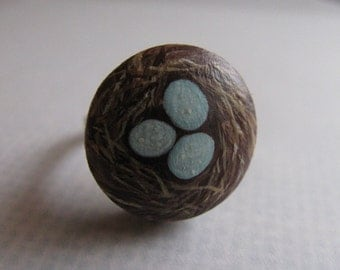 nest ring - handpainted adjustable ring