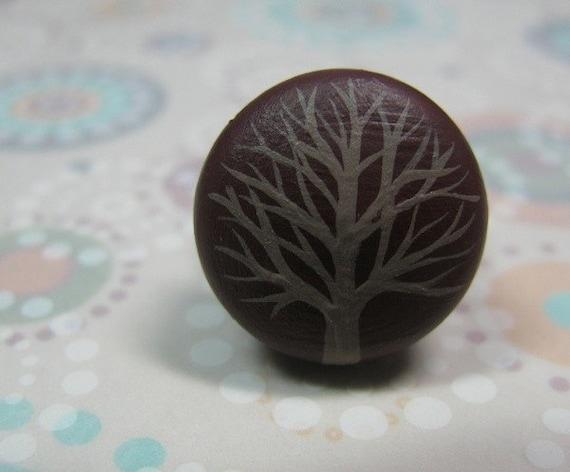 adjustable ring - brown winter tree