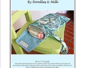 Noodles and Milk Sewing Pattern -Tutorial PDF DIY-Diaper and Wipes Case with Strap- Great Baby Gift
