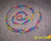 Rainbow Crochet Shoelaces -reserved for rainbow revolution