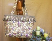 Beautiful Green Gold Pink Paisley Tote