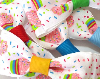 Cupcake Heaven Party Bows - (6)