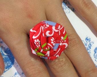 Fiesta Red Rose Ring