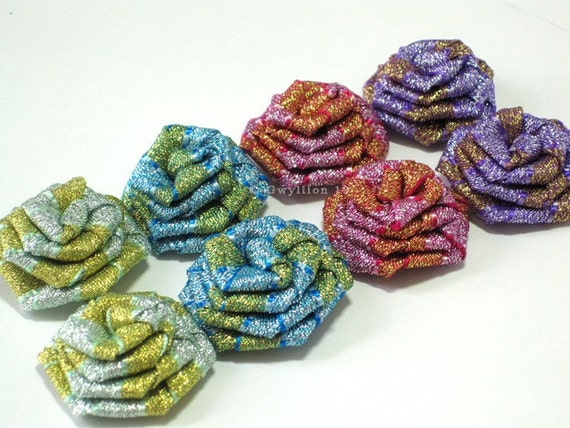 Items similar to Mixed Rainbow Glitter Rose Drops - (8) on ...