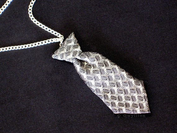 Fifty Shades of Grey Inspired Mini Tie Necklace Pin