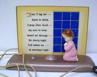 Vintage Prayer Night Light/Plak Lite