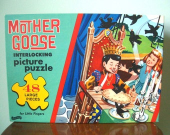 Vintage Mother Goose Sing a Song of Sixpence Puzzle Unopened
