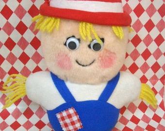 Vintage DelMonte Shoo Shoo Scarecrow Plush Country Yumkin