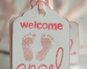 Baby Shower Tags, Welcome Angel Tags - new baby tags, welcome baby