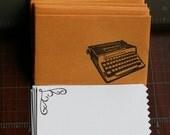 Retro/Vintage Typewriter Mini Envelopes & Cards