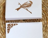 Brown Sparrow Mini Cards / Envelopes Set Birds