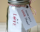 Love Jar - 31 Days of Love - CUSTOM quotes, tickets, and other ways to say I love you