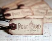 Gift/Favor Tags - Vintage Post Card stamp