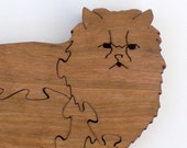 persian cat animal puzzle cherry wood